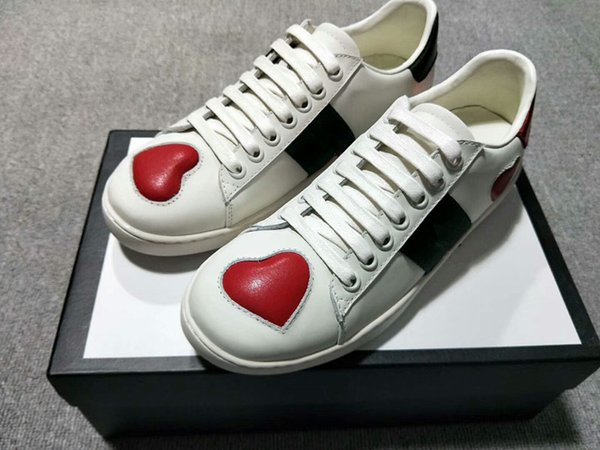 2019 Designer Shoes Flats shoes shoes luxury Mens Womens Party Lovers Genuine Leather Sneakers qh18041026