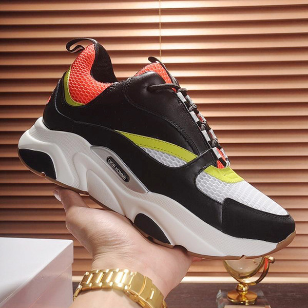 Chaussures de sport pour hommes avec Origin Box 2019 Baskets mode, grande taille haute qualité été B22 Sneaker en maille technique et cuir de veau