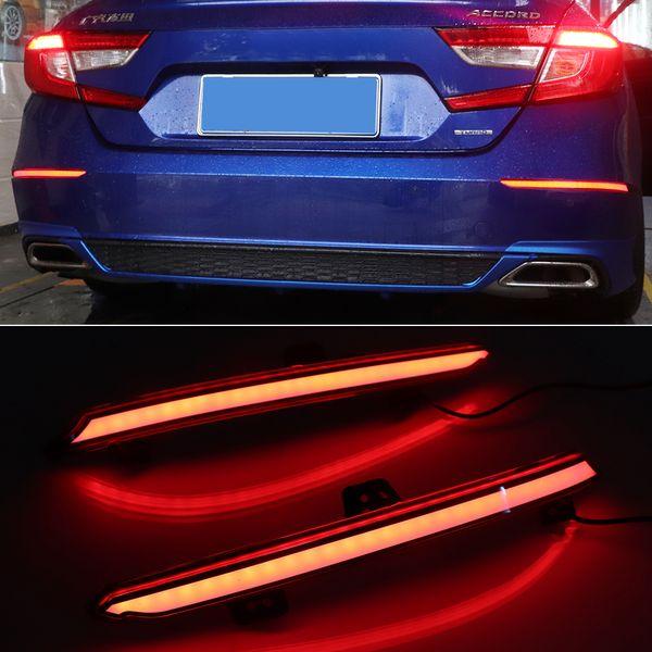 top popular 1Pair Rear Fog Lamp For Honda Accord Inspire 2018 2019 Plug and Play Car LED Rear Bumper Brake Light Dynamic Turn Signal Reflector 2021