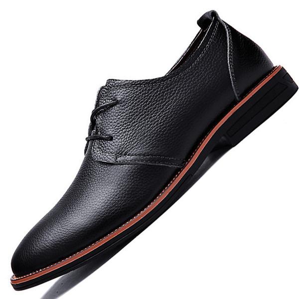 Charm2019 saison couche orteil peau de vache ventilation homme d'affaires des affaires en cuir véritable casual chaussures hommes
