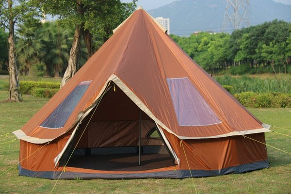TY 4M Campping Bell Tent 300D Oxford Fabric Waterproof 6000 PU 10 Person for Family Camp Outdoor