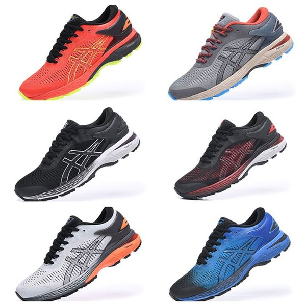 2519 New Arrival Gel-KAYANO 25 Top Quality Sports RunningMen Athletics Discount Sneakers Shoes Black Grey White for 40.5-45