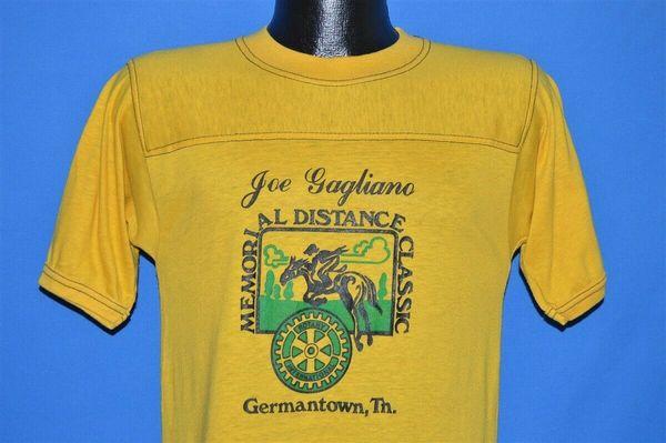 vtg 70s JOE GAGLIANO MEMORIAL DISTANCE CLASSIC ROTARY INTERNATIONAL t-shirt SFunny free shipping Unisex Casual