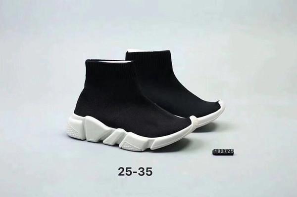 2019 nuove ragazze dei ragazzi di lusso calzino Parigi bambini scarpe velocità scarpe da corsa bambini babys estate casual sportivo atletico scarpe da ginnastica taglia 25-35
