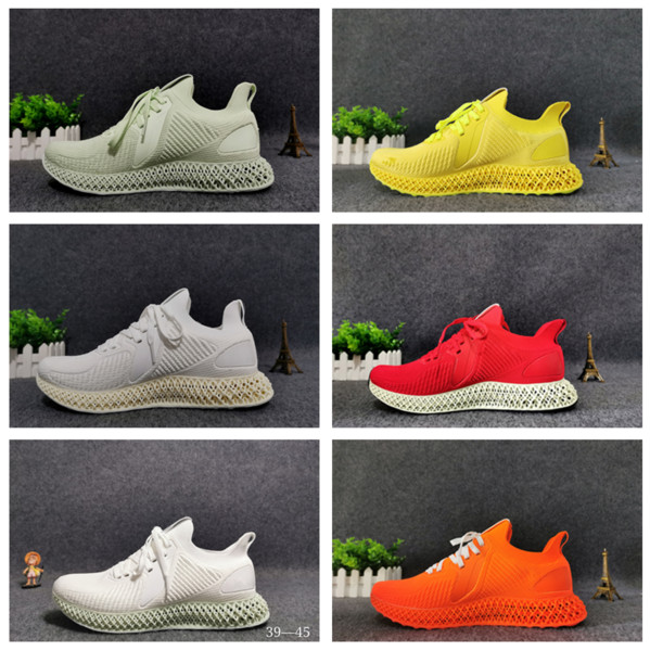 2019 hot Low In Price alpha 4D Print technology Shoe Woman Soccer Ball Shoes Man Original Sneakers Runner 4D white pure orange With logo