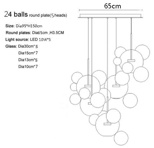 Base rotonda a 24 sfere
