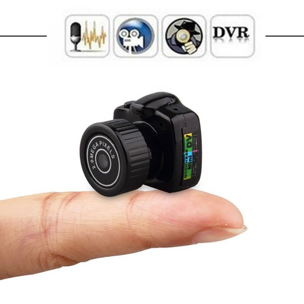Mini Camera HD Video Audio Recorder Webcam Y2000 Camcorder Small DV DVR Security Secret Nanny Car Sport Micro Cam with Mic With Retail