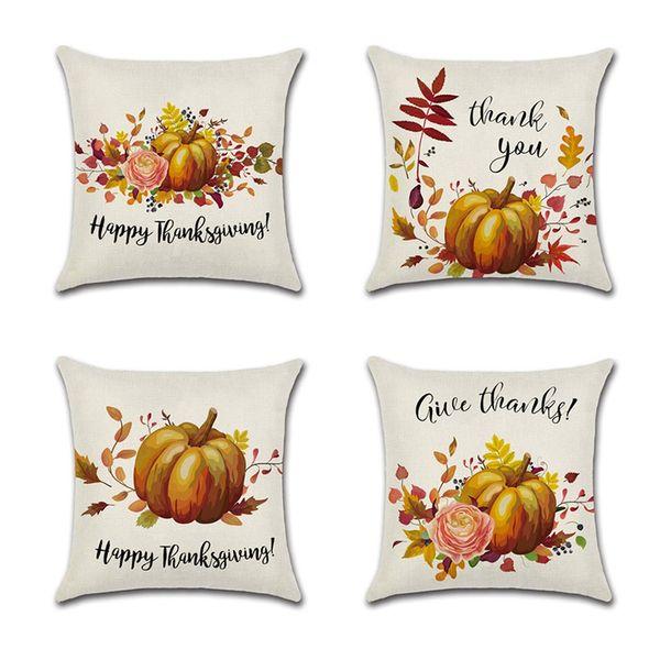 1PC Halloween Throw Pillow Covers Pumpkin Castle Bat Theme Sofa Home Decor Cotton Linen Throw Pillow Case Cushion Covers