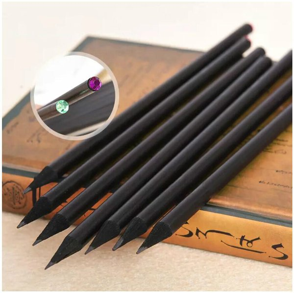 Basswood Pencil HB Diamond Colored Pencils Stationery Items High Quality Cute Pencils For Drawing Office School Supplies