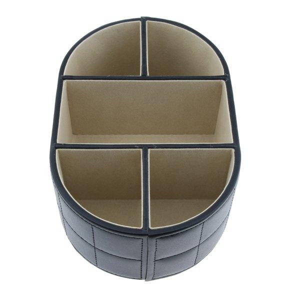 best selling Office Remote Control Organizer Desktop Tabletop PU Leather Caddie Holder