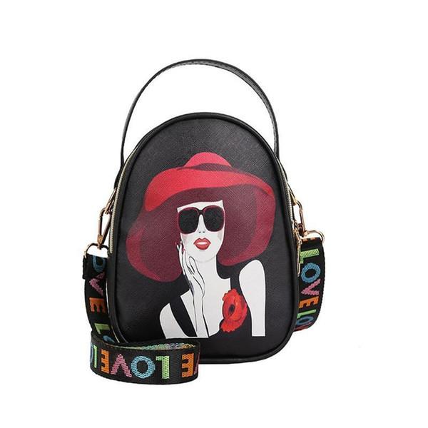 Small Mini Tote Cute Fashion Circular Bag Female Wide Shoulder Strap Messenger Crossbody Hand Bags Round Handbag Totes Pu Purse