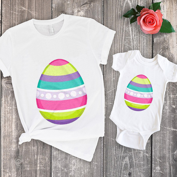 easter tshirt baby easter egg top print pregnancy funny mother and son clothes matching outfits big sister family boys casual