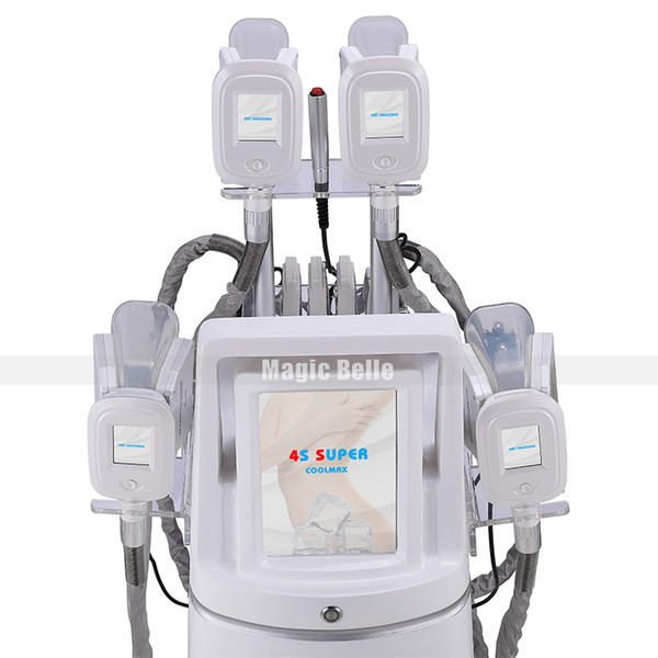 High performance Fat Freezing Body Slimming Machine 4 handles cavitation RF device for beauty salon