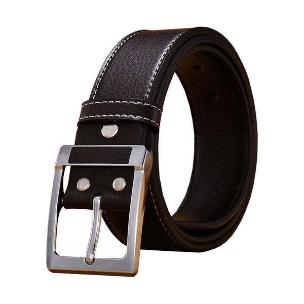 New Designer Men Belt Fashion Vintage Pin Buckle Men Belt Quality Cow Genuine Leather Popular Casual Waist Strap Trending Male Belts