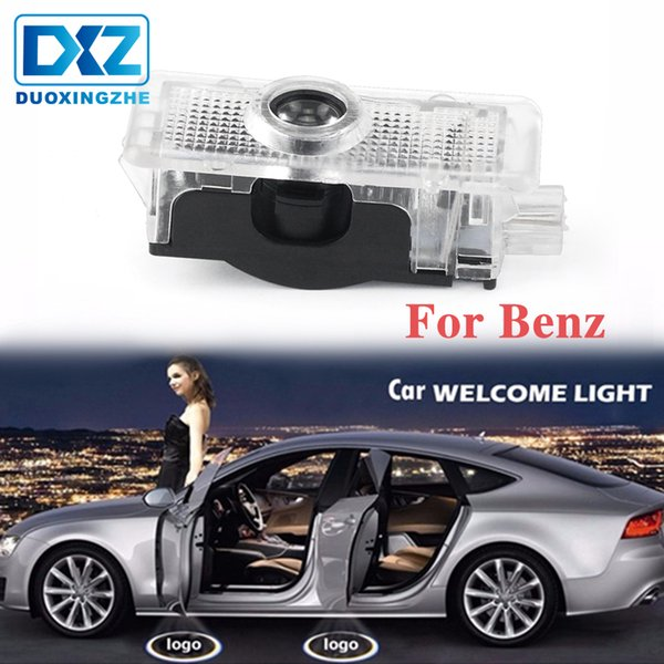 2X For Mercedes Benz C207 C218 A207 C117 CLA CLS E Class LED Car Door Courtesy Welcome Light Laser Projector Logo Warning Lamp