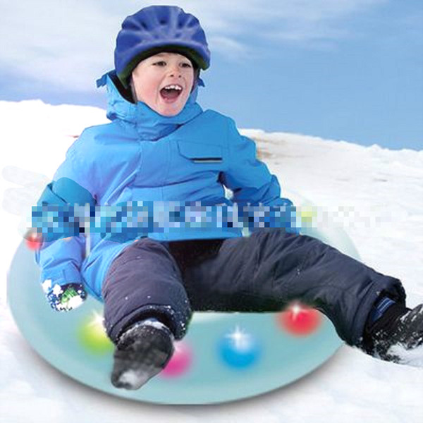 Children Ski Ring Snow Tube Floated Sled Outdoor Inflatable Sledge Skiing Supply