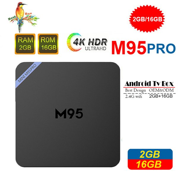 Best M95 PRO Allwinner H3 1G 8G 2GB 16GB Android 7.1 TV BOX Quad Core HD H.265 4K Stream Media Player Better Amlogic S905W TX3 X96 mini