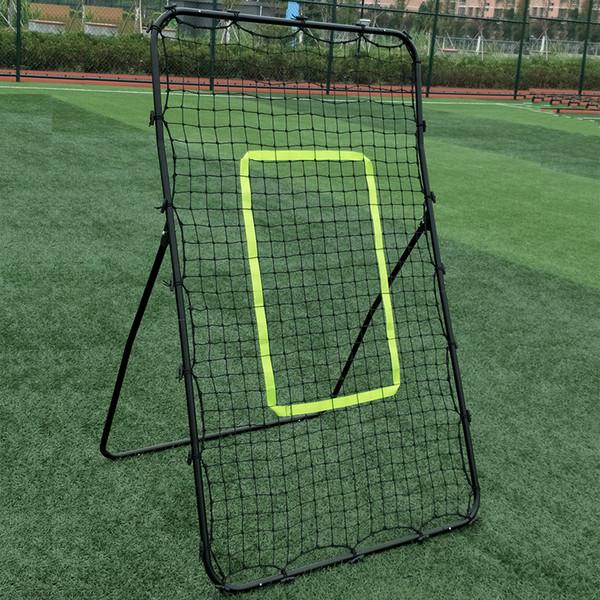 Professional Galvanized Steel Pipe Rebound Soccer Baseball Goal Black