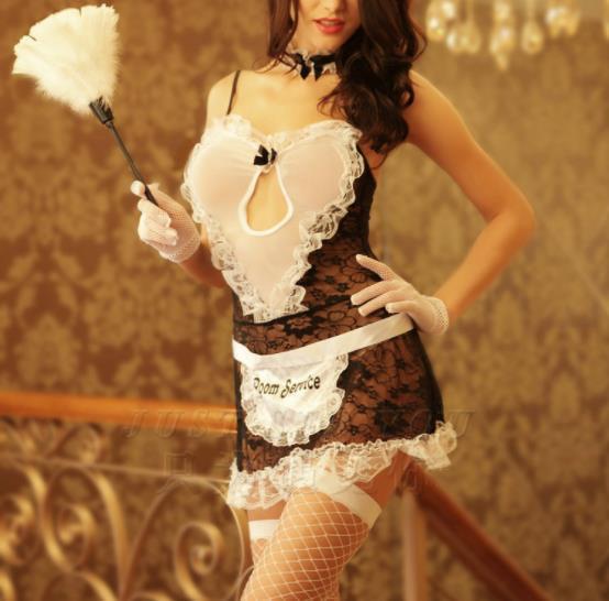 Costume da cameriera cosplay costume da cameriera sexy lingerie uniforme tentazione cameriera cameriera sexy night club spettacolo servizio di pulizia
