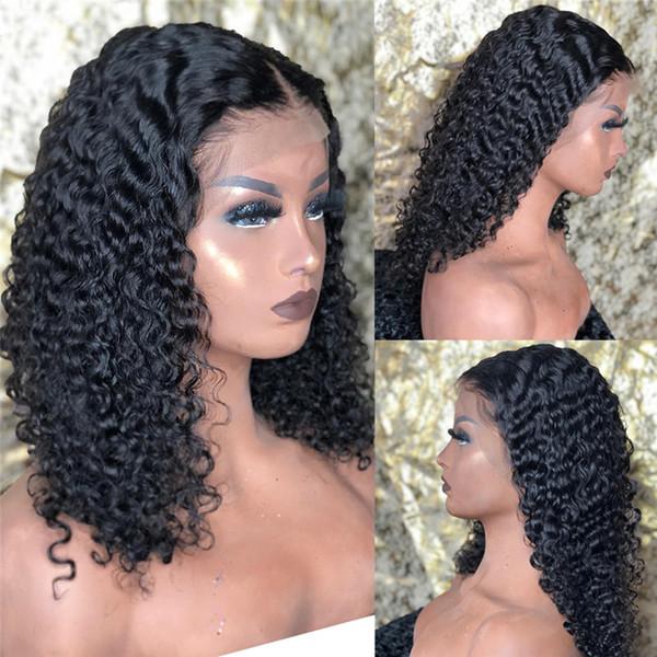 9A высокое качество бразильские девственные волосы полный парик фронта шнурка лучший бразильский кудрявый вьющиеся парики Реми человеческих волос кружева фронт натуральный цвет парики