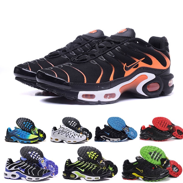 nike Tn plus air max airmax Zapatos clásicos tn aire nuevo del diseño de los hombres tn zapatillas de deporte casuales para tn requin barato transpirable malla negra blanca roja