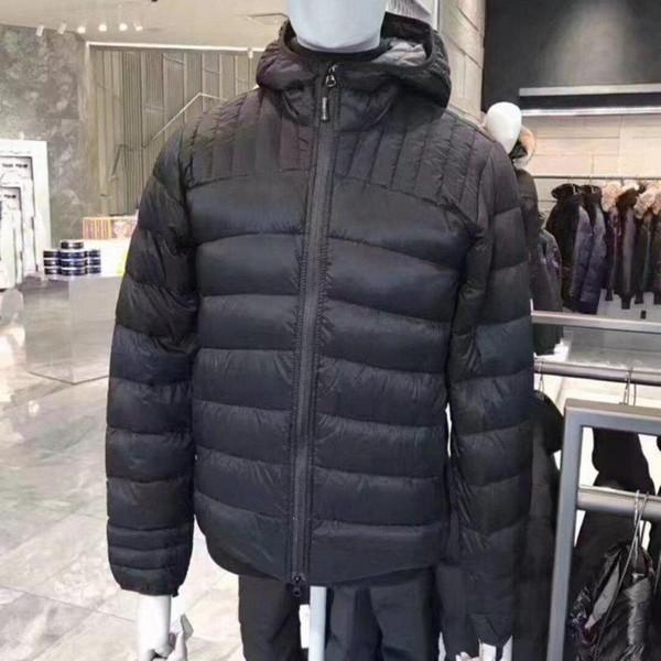 Erkekler Fermuar Yüksek yaka Kapşonlu Sıcak Kış Hafif ceket Brookvale Hoody Man Coats kuştüyü ceketleri