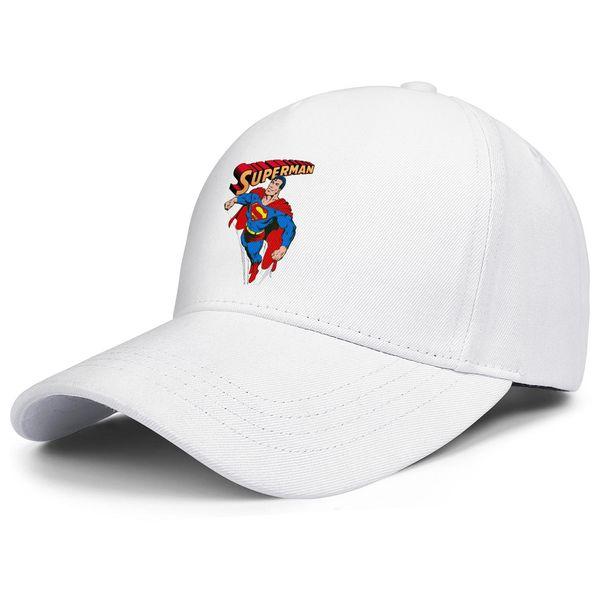 Superman man logo white for men and women trucker cap baseball design custom sports fashion running hats
