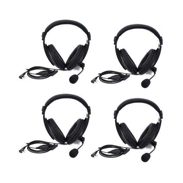 4X 2 Pin Retevis Headset Hörmuschel für Retevis H777 Baofeng BF-UV5R 888s H777