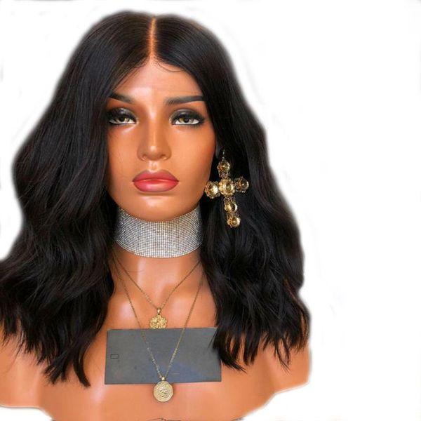 parrucche popolari europei e americani brasiliani la parrucca reale cappuccio piena del merletto 150% densità di colore naturale capelli grande Qi coda di capelli veri Tessuti a mano