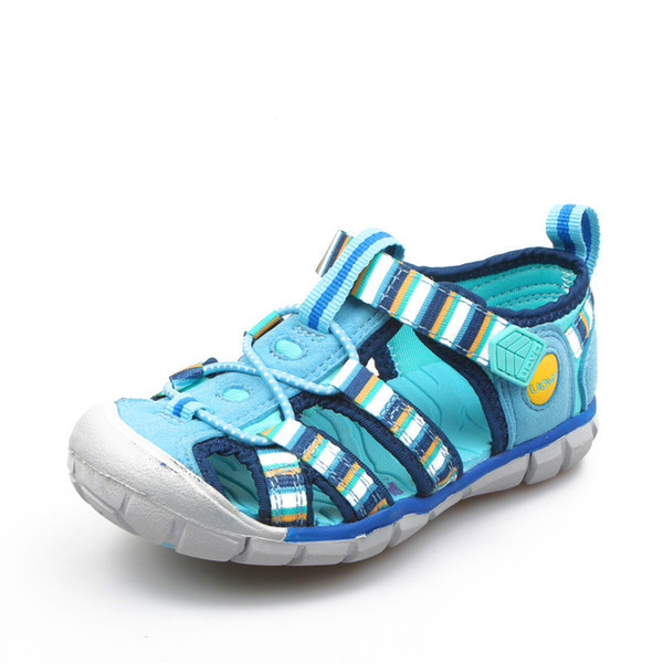 2019 New Kids Sandals For Boys And Girls Summer Child Beach Shoes Fashion Hook-and-Loop Kids Shoes Size 26#-33#