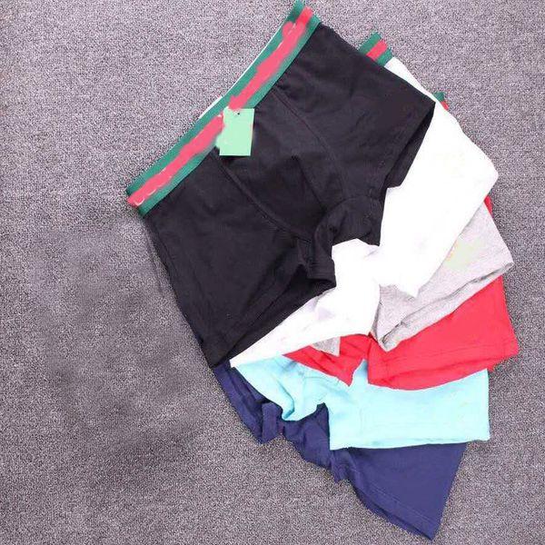best selling Men's 2019 New Arrival Underwear Letters Print Male Cotton Plain Boxer Briefs Solid Color Sexy Underpants Boxers
