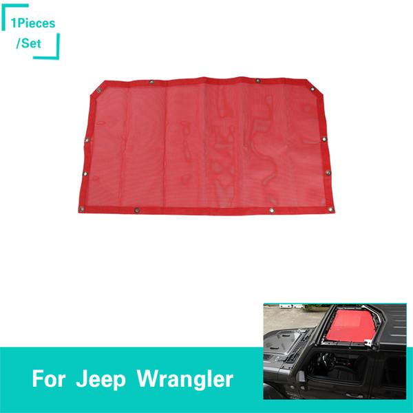 Parasole La nuova rete di isolamento della porta anteriore senza logo Decorazione rossa Fit Jeep Wrangler JL dal 2018 Accessori per esterni auto