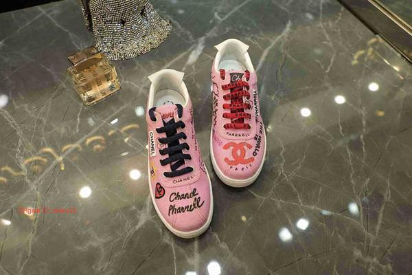 Nueva llegada de los zapatos de las mujeres ocasionales 2019 la mejor c botas de alto de las zapatillas de deporte con la caja Moda Mujer