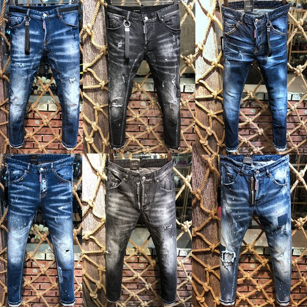 Pantalones vaqueros de marca para hombre de marca italiana 2019 nueva moda de alta calidad para hombre, pantalones de motociclista, pantalones de marca para hombre