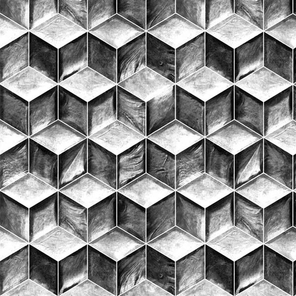 украшения Maison Black Gray Stripes 3D обоев декора дома Минималистский INS Геометрический Обои для спальни гостиной