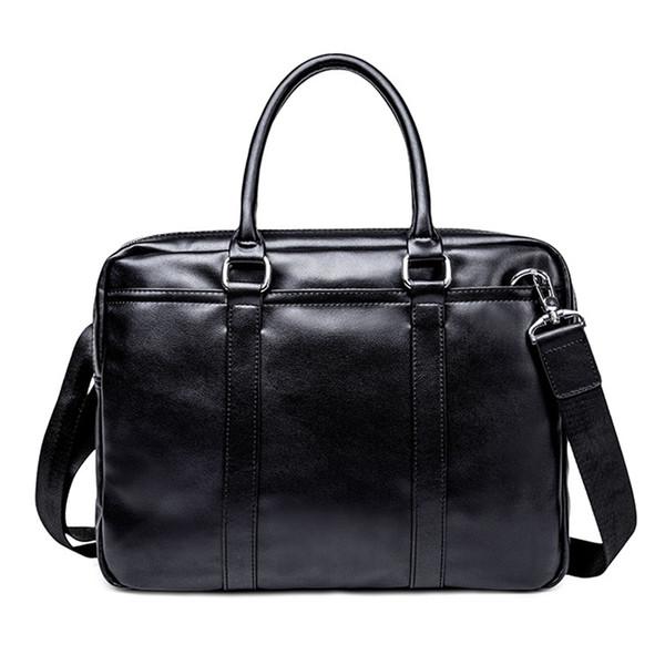 Men Handbags Men Bags Business 14 Inch Laptop Briefcase Casual Tote Vintage Leather Shoulder Bag For Large Capacity Bags