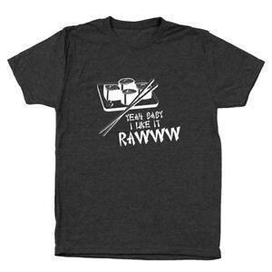 Я, детка, мне нравятся сырые суши, смешной комплект Heather BlaPrint, мужская футболка с тройными блендами