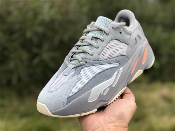 2019 Originals Authentic 700 Inertia Grey Basf Kanye West Wave Runnner Zapatos para correr Botas reales Zapatillas de deporte para hombre Ape779001 Con caja