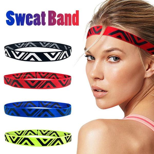 Unisex Yoga Fitness Sports Headbands Breathable Anti-slip Sweat-absorption Comfortable Sport Hairbands Hollow Out Sweat Headband #484095