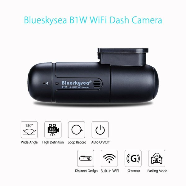 Blueskysea Mini WiFi Araç Kamera DVR Kamera H.264 360DEGREE MP4 Döndür Kondansatör G-Sensörü B1W 1080P IMX323 Novatek GM8135S araba dvr