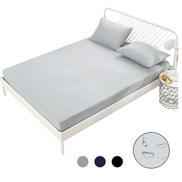 Bed Sheet For Mattress Pad Solid Color With Elastic Band Anti Bed Bugs Washable Hospital