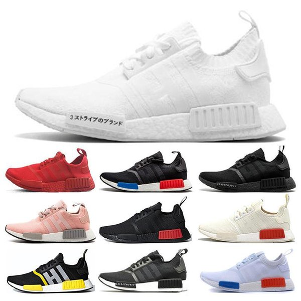 Cheap Nmd R1 V2 Running Shoes Des Chaussures Core Black White Red Men Og Bred Metallic Gold Triple Women Sports Designer Sneakers 36 45 Shoes On Sale Ladies Running Shoes From Big Sports
