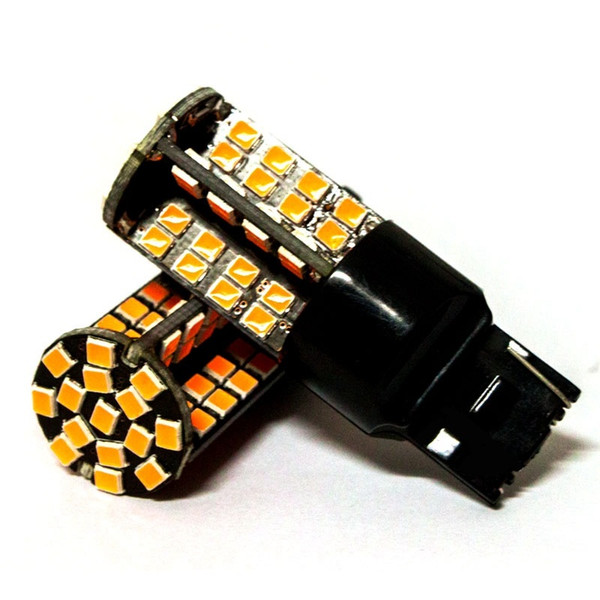 2pcs T20 W21W 7440 79 smd 2835 LED Car Red Tail light bulb WY21W Amber Turn Signal White Parking lights Auto Fog Lamps 12V
