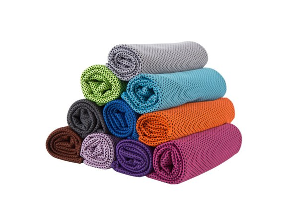 Ice Cold Towels Double Layer Cool Ice Towel Summer Sunstroke Sports Yoga Exercise Cool Quick Dry Soft Breathable Hand Towels 30*90