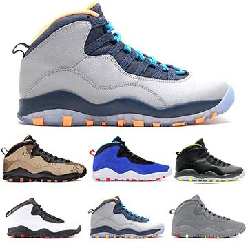 10s 10 Men Basketball Shoes Westbrook White Cement Bobcats Grey Infrared Chicago Cool Grey Designer Sports Sneakers Size 7-13