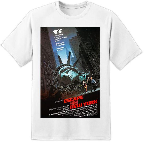 Escape dos carpinteiros de John do cartaz cine Camiseta Cópia enorme! LA a camisa feita sob encomenda do jérsei T
