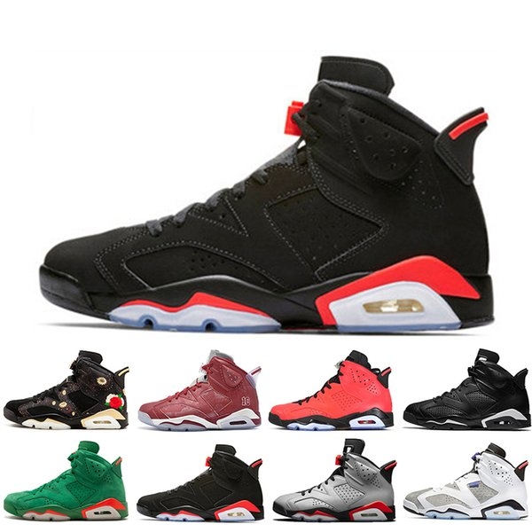 16f84078a26 With Box 2019 Bred VI 6 6s Mens Basketball Shoes Infrared 23 3M Reflective Tinker  Slam