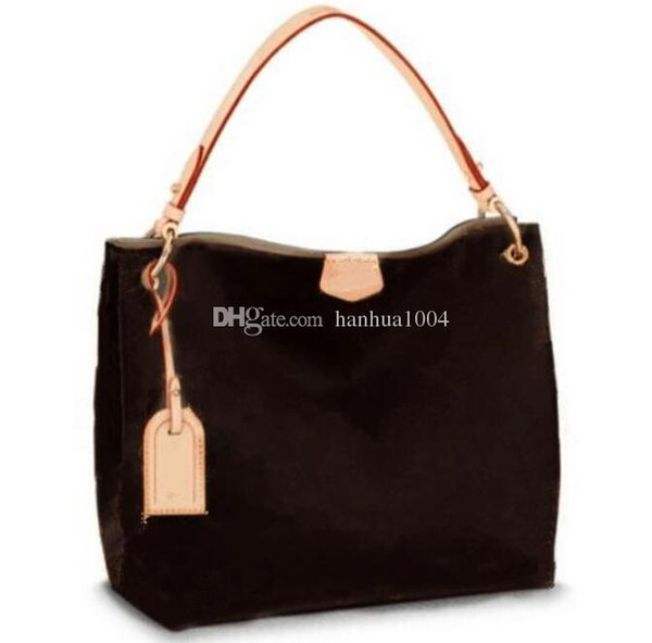 2018 new style high quality Genuine leather fashion women' Grace Full Hand Tote Shoulder Bag