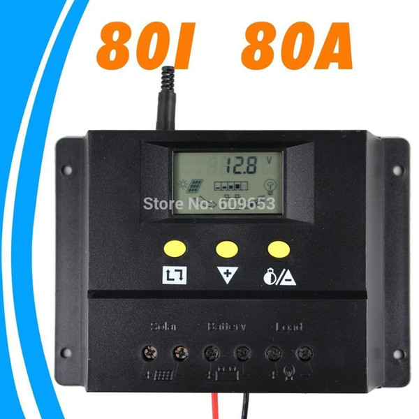 Freeshipping 80A 12V 24V Solar Controller PV panel Battery Charge Controller Solar system Home indoor use New