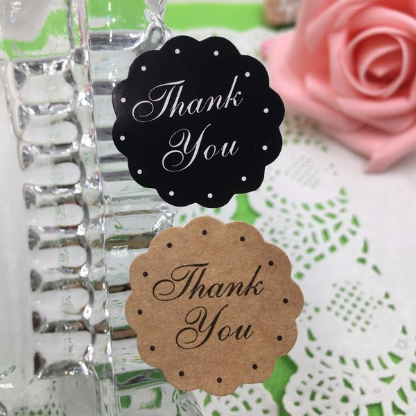5000pcs/lots Paper thank you Circular Cursive writing design Sticker Labels Seals Gift stickers for Wedding Labels